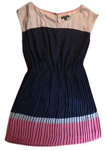 American Eagle Outfitters short dress Navy with lavender and coral on Tradesy