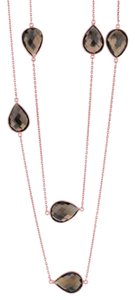 JewelryNest Rose Gold sterling Silver Gems By The Yard Necklace