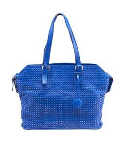 Christian Louboutin Spike Loubs Shoulder Tote in Blue