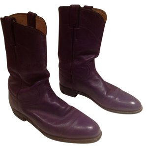 Justin Boots Purple Boots