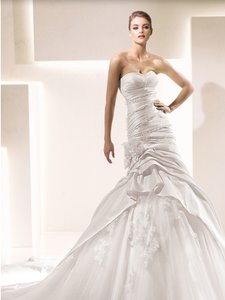 Pronovias Sandra Sexy Mermaid Taffeta Tulle Wedding Dress