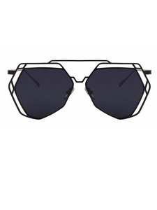 Other Black Geometric Sunglasses