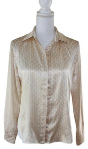 Carolina Herrera Silk Top beige