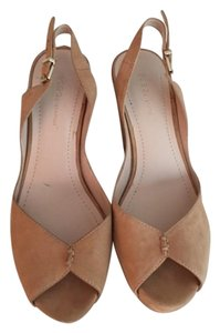 BCBGeneration Suede Tan Wedges