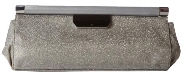 Item - Heritage Flint/Silvery/Gold/Sparkle/Gilver Leather Cotton Linen Clutch