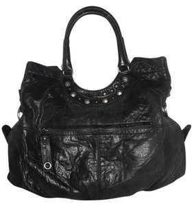 BCBGMAXAZRIA Studded Leather Hobo Bag