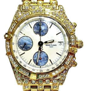 Breitling Breitling 18 Karat Gold Chronograph Watch with Diamonds!!