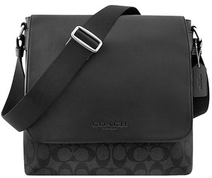 Coach Signature Chrls Crossbody Black Gray Messenger Bag