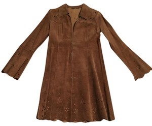 Arden B. Medium Brown Leather Jacket