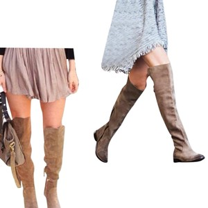 Frye Leather Over The Knee Suede Ash Boots