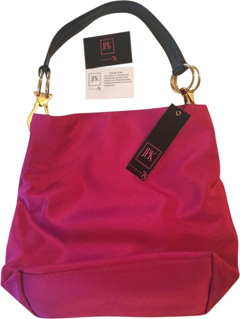 Item - Bucket 75 Pink Nylon Shoulder Bag