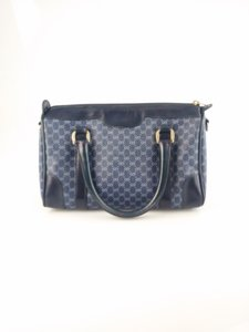 Gucci Satchel in Blue Microguccissima
