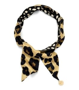 Tory Burch Ocelot Leopard Skinny Multi Way Scarf