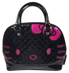 Hello Kitty Loungefly Sanrio Satchel in Black and Hot Pink