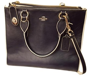 Coach Tote in Navy Blue