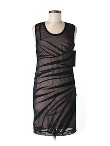Nicole Miller Sheer Shift Sheath Dress