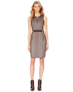 Michael Kors Herringbone Cotton Chevron Dress