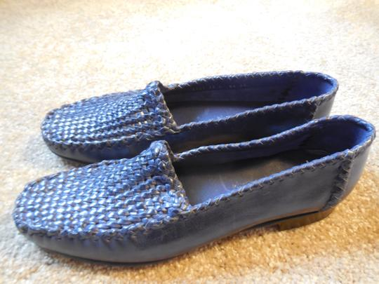 Robert Zur Leather Woven New Without Tags No Box Purple Flats