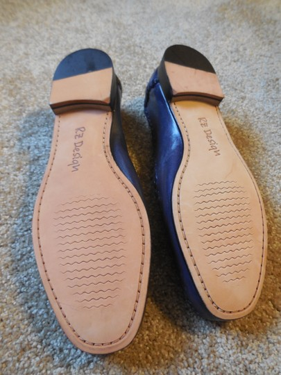 Robert Zur Leather Woven New Without Tags No Box Loafer Style Purple Flats