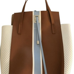 MICHAEL Michael Kors Satchel in Tan, White and Light Blue