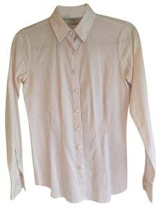 Van Heusen Blouse Fitted Stretch Button Down Shirt White
