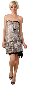 Marc by Marc Jacobs Silk Metallic Ruffle Strapless Dress