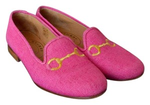 Stubbs & Wootton & Canvas Loafers Size 7 Pink Flats