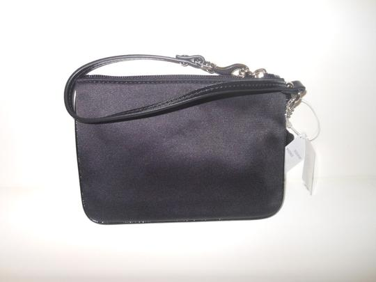Coach Sequin Satin Wristlet in Black Image 1