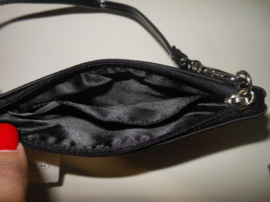 Coach Sequin Satin Wristlet in Black Image 2
