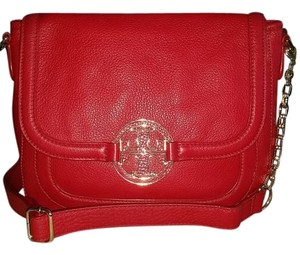 Tory Burch Leather Gold Hardware Cross Body Bag