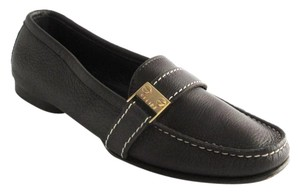 Cline Leather Logo Loafers 36 C Brown Flats