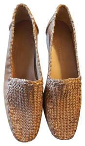 Robert Zur Leather Woven New Without Tags No Box Natural Flats