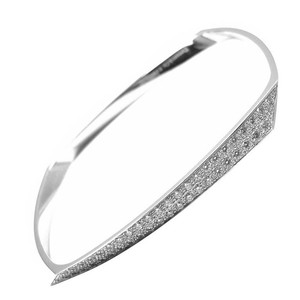 Tiffany & Co. Tiffany & Co. Frank Gehry Torque White Gold Diamond Bangle