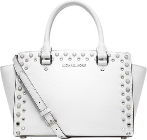 Michael Kors Jewel Satchel in White