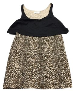 Dolce Vita short dress Black and Leopard on Tradesy