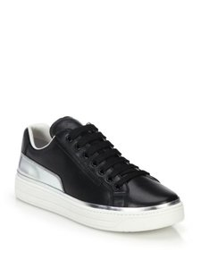 Prada Sneakers Black-Silver Platforms