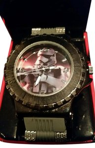 Star Wars New STAR WARS Gray and Gunmetal Tone Storm Trooper Watch