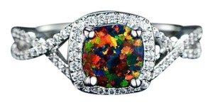 Sevil Italian Design 4.00 CTW Black opal engagement ring