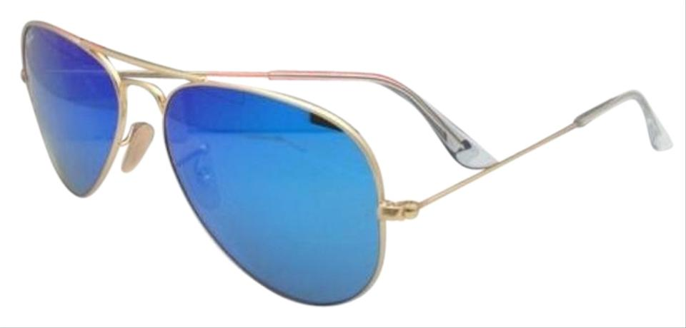 03822cfb75 Ray-Ban Rb 3025 Large Metal 112 17 58-14 Gold W  Multi-blue Mirror ...