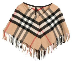 Burberry Beige, Multicolor Girls' Burberry Wool Nova Check poncho