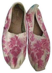 TOMS Canvas Hot Pink and Cream Flats