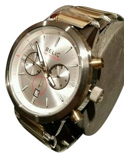 Relic New Relic Gold and Silver Tone Stainless Steel Chronograph Watch
