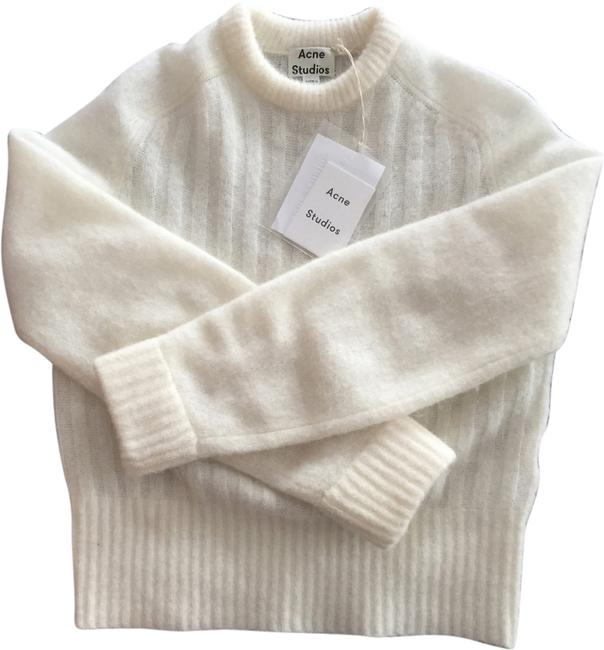 Preload https://img-static.tradesy.com/item/1955132/acne-white-dania-mohair-pullover-sweater-hoodie-1955132-0-0-650-650.jpg
