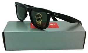 Ray-Ban New Ray-Ban Sunglasses RB 2140 901 50-22 WAYFARER Black Frame w/Green