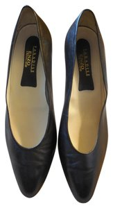 Enzo Angiolini Leather Navy Pumps