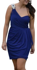 Cache Homecomming Blue Cocktail Diamonds Formal Dress