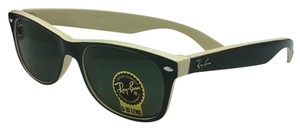 Ray-Ban Ray-Ban Sunglasses RB 2132 875 52-18 NEW WAYFARER Black-Beige w/Green