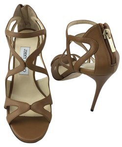 Jimmy Choo Lang Sandal Strappy Brown Sandals
