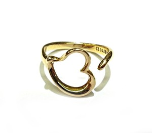 Tiffany & Co. Tiffany & Co 18 K Gold Open Heart Elsa Peretti Ring Sz.7