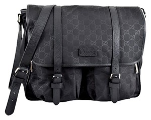 Gucci Diaper Black Messenger Bag